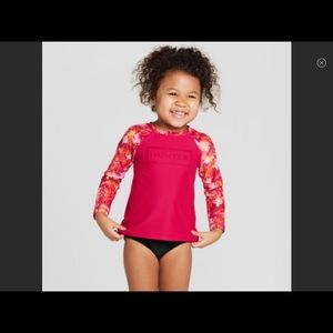 🌸 Hunter for Target Floral Rash Guard Baby Girls